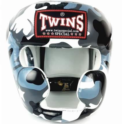 Боксерский шлем Twins FHGL3-AR серый