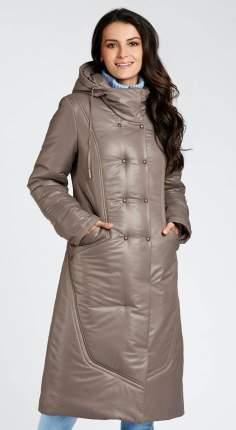 Пуховик женский D`imma fashion studio 2029 коричневый 64 RU