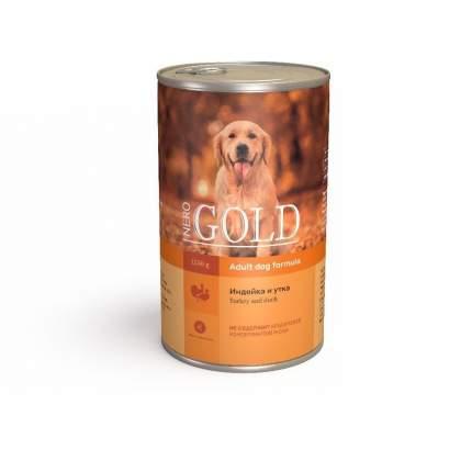 Консервы для собак NERO GOLD Adult Dog Formula, индейка, утка, 1250г