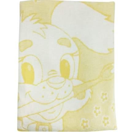 Одеяло детское Папитто байковое 100*140 Желтый 1155