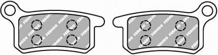 Тормозные колодки передние/задние Ferodo FDB2157SG для мотоциклов