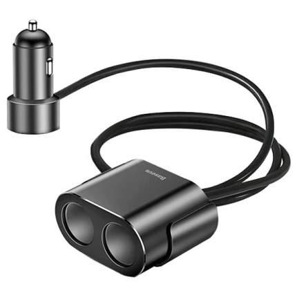 Автомобильное ЗУ Baseus High Efficiency One To Two Cigarette Lighter - Черное (CRDYQ-01)