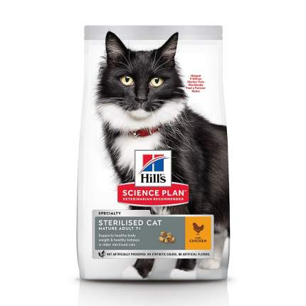 Сухой корм для кошек Hill's Science Plan Mature Adult 7+ Sterilised Cat, курица, 3кг