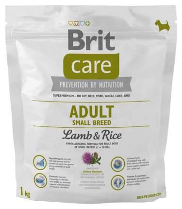 Сухой корм для собак Brit Care Adult Small Breed, для мелких пород, ягненок и рис, 1кг
