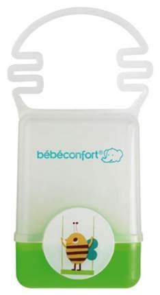 Пластиковый контейнер Bebe Confort с ручкой для хранения пустышки зеленый