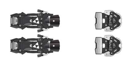 Крепления горнолыжные Fischer Attack 13 2017, черные, 110 мм