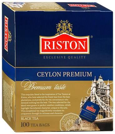 Чай черный Riston премиум цейлонский 100 пакетиков