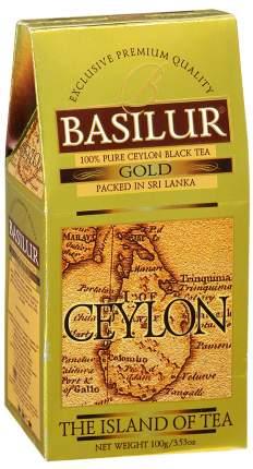 Чай черный Basilur чайный остров цейлон золотой цейлонский байховый листовой 100 г