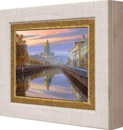 "Ключница ""Вид на Исаакиевский Собор, Санкт Петербург"" Клен"