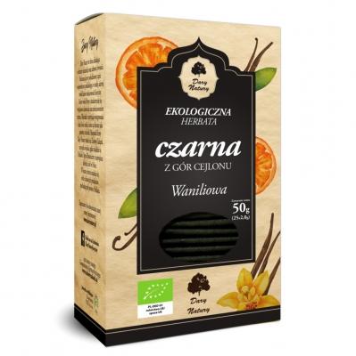 Чай черный Dary Natury цейлонский с ванилью эко 25 пакетиков
