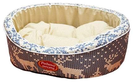 Лежак для кошек и собак Родные места Премиум №1 В гостях у северных оленей 43х38х15 см