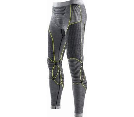 Кальсоны X-Bionic Apani Merino Fastflow Pants 2019 мужские темно-серые/желтые, L/XL