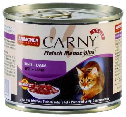 Консервы для кошек Animonda Carny Adult, говядина, ягненок, 200г