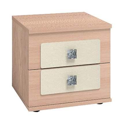 Тумба прикроватная приставная Глазов мебель Амели 4 45,2x38,6x43,7 см, дуб беленый