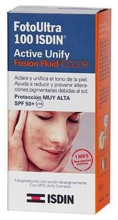 Тональный крем Isdin FotoUltra 100 Active Unify Fusion Fluid Color SPF 50+ 50 мл