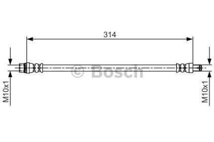 Шланг тормозной системы Bosch 1 987 481 718
