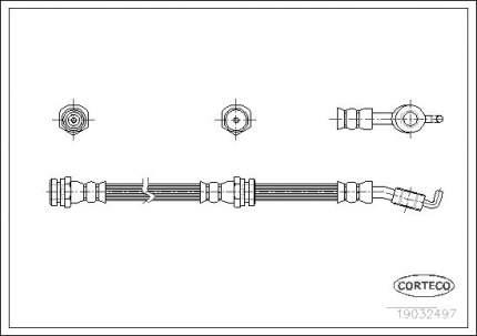 Шланг тормозной CORTECO 19032497