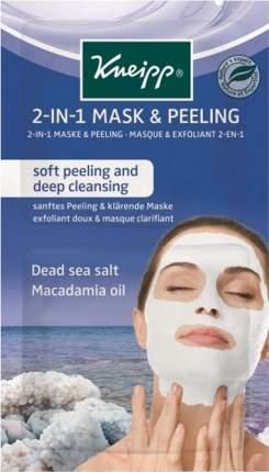 Очищающая маска-скраб 2в1 Kneipp с солью Мертвого моря и маслом Макадамии