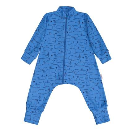 Комбинезон-пижама Bambinizon Голубой ЛКМ-БК-КИТ р.56