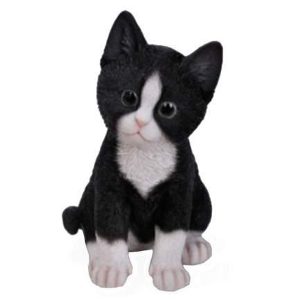 NONAME Фигура садовая Котёнок чёрно-белый L14W12H20 см.