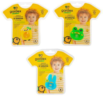 Клипса GARDEX Baby со сменным картриджем от комаров в ассортименте