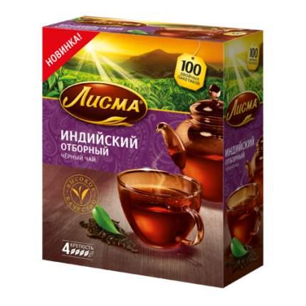 Чай черный в пакетиках для чашки, Лисма чай индийский отборный, 100*1,5 г