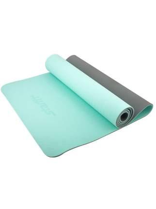 Коврик для йоги StarFit FM-201 173 x 61 x 0,6 см мятный/серый