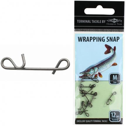 Застежка Mikado для безузлового крепления плетенки Wrapping Snap L 12 шт.