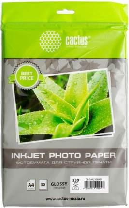 Фотобумага Cactus CS-GA423050ED A4 230г/м2 50л белый глянцевая для струйной печати