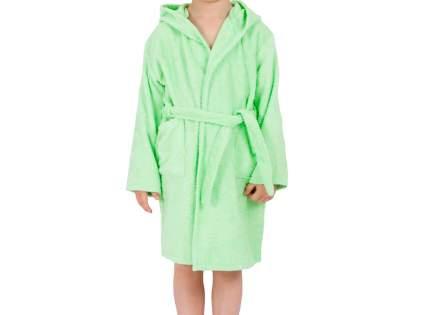 """Детский махровый халат с капюшоном, салатовый, р. 34 """"ЭГО"""""""