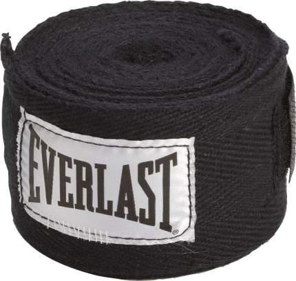 Бинт боксерский Everlast 4465BK, 2.5 м, хлопок, черный