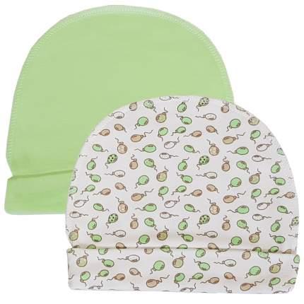 Комплект шапок 2 шт. Папитто зеленый р.36 37-032