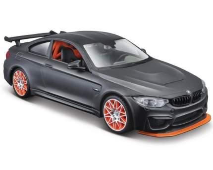 Машинка Maisto 1:24 BMW M4 GTS, черная с оранжевыми дисками