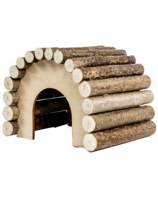 Домик для грызунов Zoobaloo овальный большой, 23 х 20 х 17 см