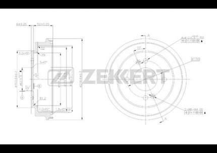 Тормозной барабан ZEKKERT BS-5236