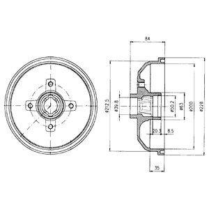 Тормозной барабан DELPHI BF293