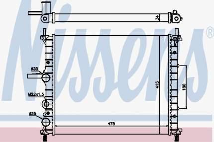Радиатор охлаждения двигателя NISSENS 61786