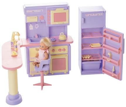 Мебель для кукол Огонек Кухня Маленькая принцесса сиреневый