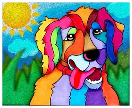 Алмазная живопись Color Kit Солнечный пес M018