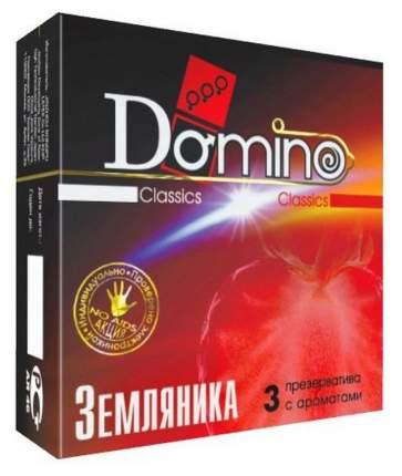 Презервативы Domino ароматизированные земляника 3 шт.