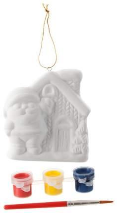 Набор для творчества Bondibon роспись ёлочных украшений Домик Деда Мороза BB1660
