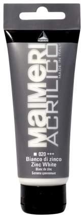 Акриловая краска Maimeri Acrilico M0924020 белила цинковые 200 мл