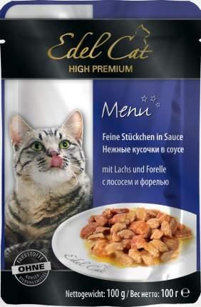 Влажный корм для кошек Edel Cat, лосось, форель, 100г