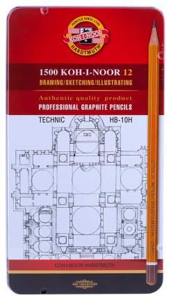 Набор карандашей чернографитных Technik, 12 штук