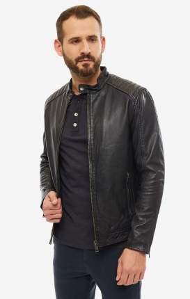 Куртка кожаная мужская Selected 16067130 black черная S