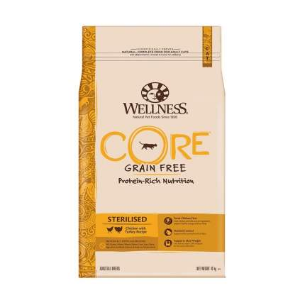 Сухой корм для кошек Wellness Sterilised, для стерилизованных, курица, индейка,10кг