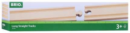 Железнодорожный набор Brio Рельсы прямые длинные 21.6 см 4 элемента 33341