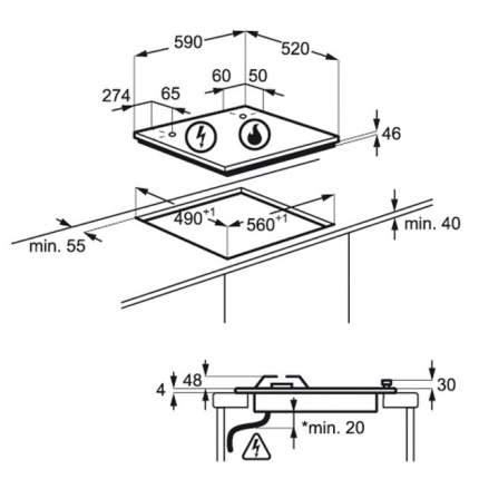 Встраиваемая варочная панель газовая Electrolux GPE363RCV Beige