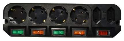 Удлинитель MOST A16, 6 розеток, 1,6 м, Black