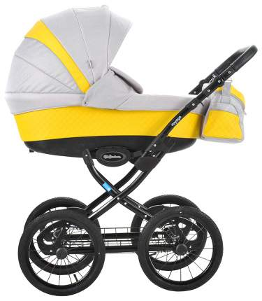 Коляска детская Mr Sandman Voyage Premium Желтый, Светло-серый CH08